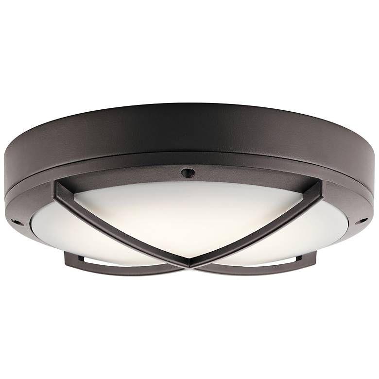 Kichler Verne 11 W Textured Bronze Led Outdoor Ceiling Light 16t96 Lamps Plus Outdoor Ceiling Lights Ceiling Lights Wall Ceiling Lights