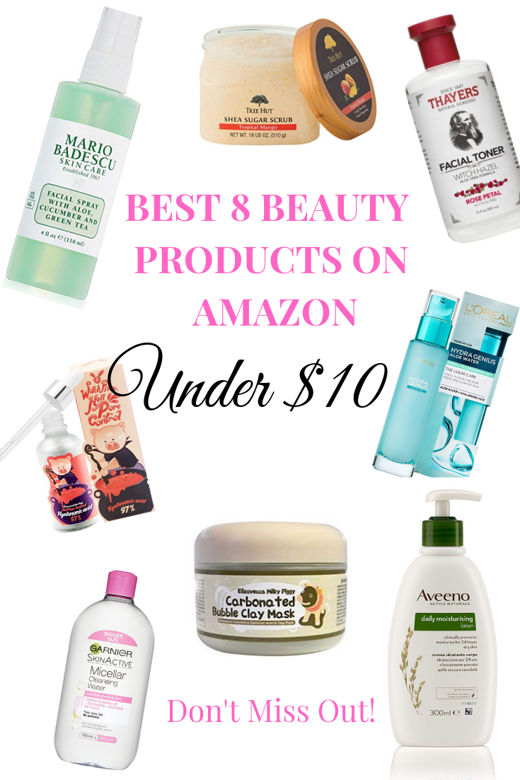 The Ultimate Best 8 Beauty Products On Amazon Under 10 Affordable Cheap Skincare Beauty M Cheap Skin Care Products Dry Acne Prone Skin Skin Care Routine 40s