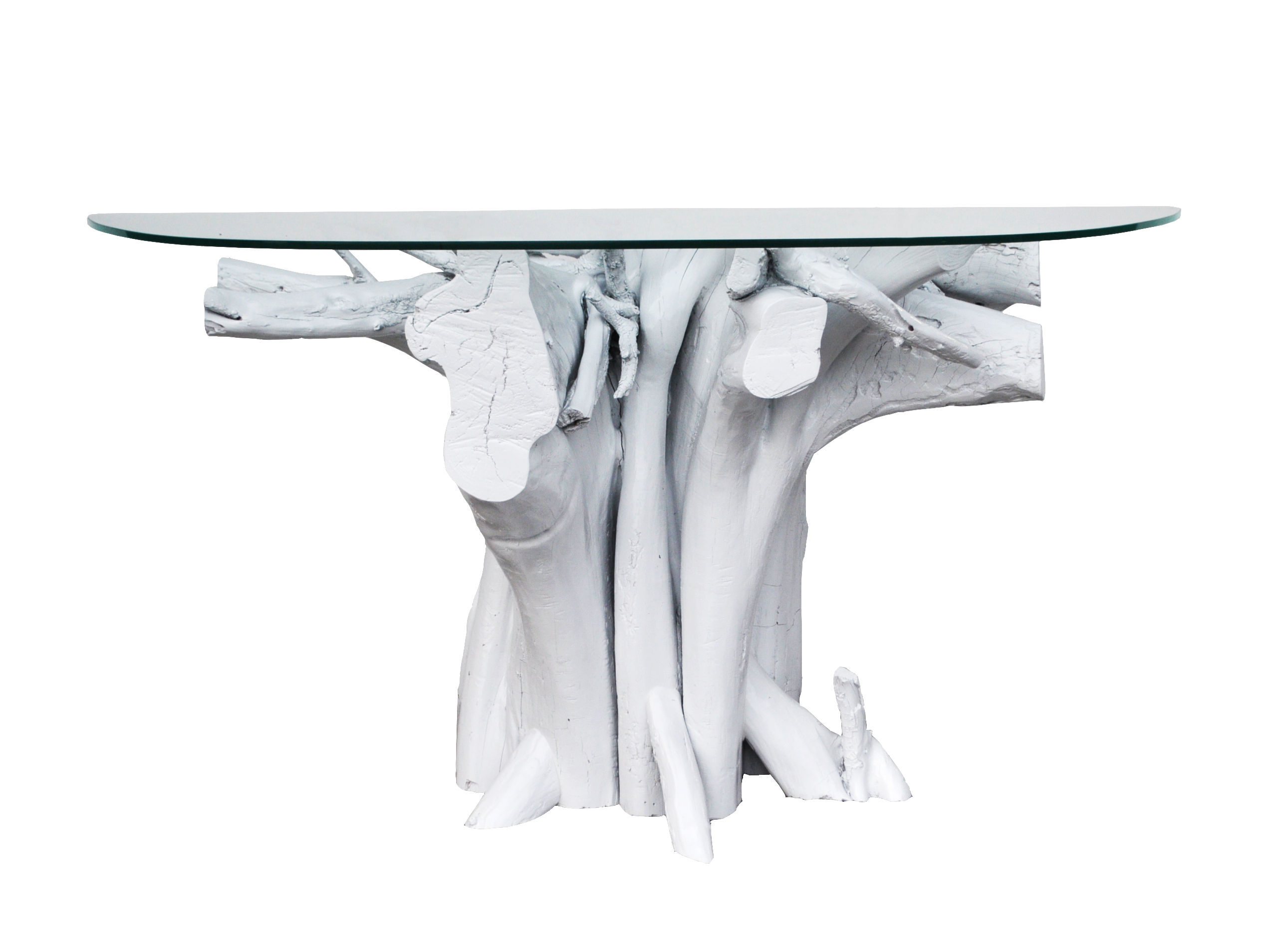 Vintage white lacquered driftwood console table console tables offered is a vintage driftwood console table that weve lacquered white for a fresh geotapseo Images