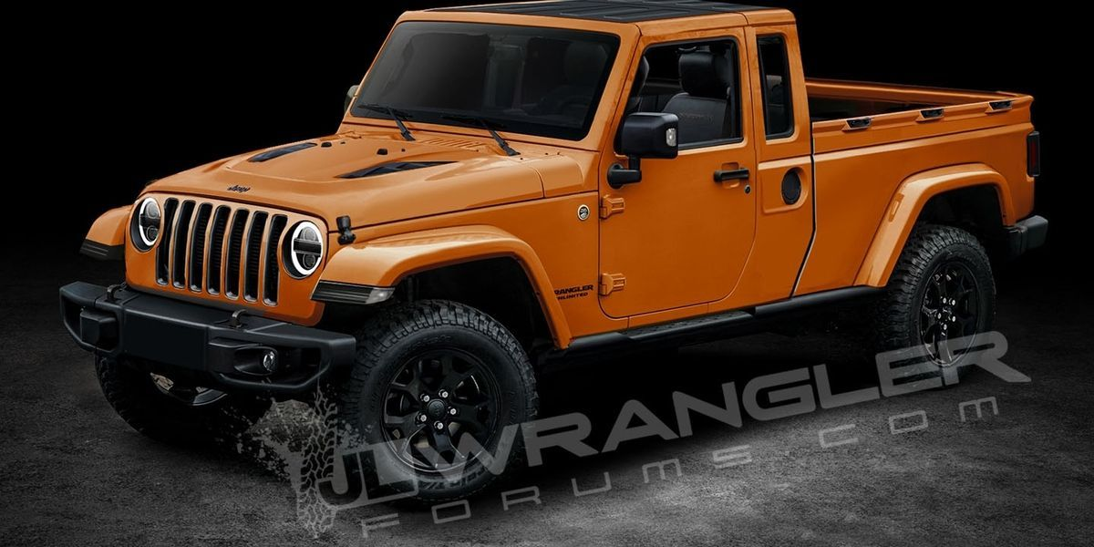 2019 Jeep Wrangler Pickup Rendered Wrangler Pickup Jeep Pickup
