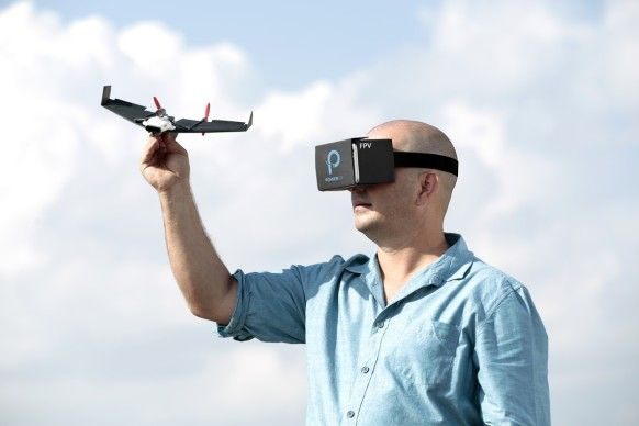 """[VIDEO] THIS GADGET TURNS PAPER AIRPLANES INTO VR-CONTROLLED DRONES—Strap on your VR headsets, kids, this paper airplane is about to take you for a ride; """"PowerUp FPV; Details>"""