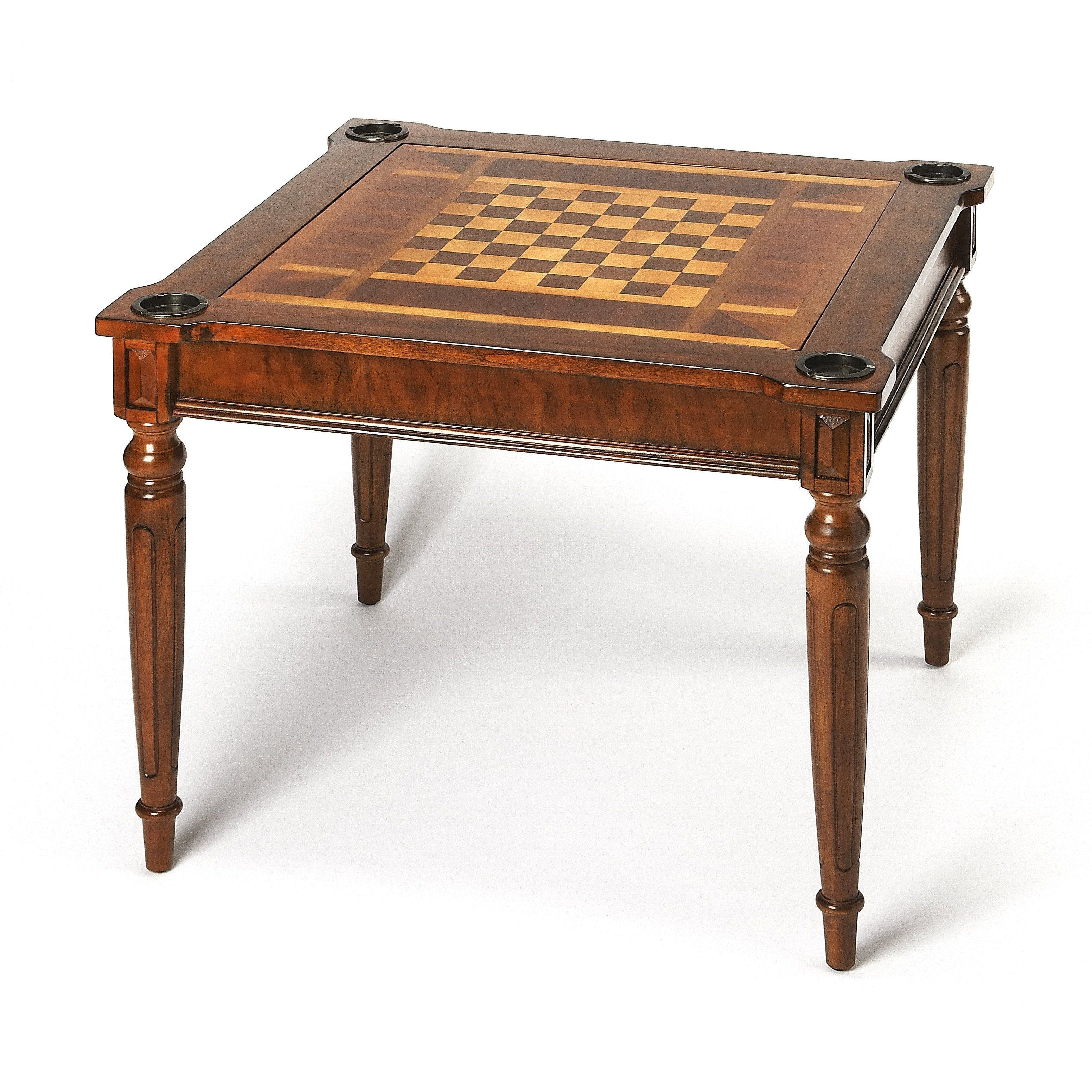 Butler vincent antique cherry multigame card table 837011
