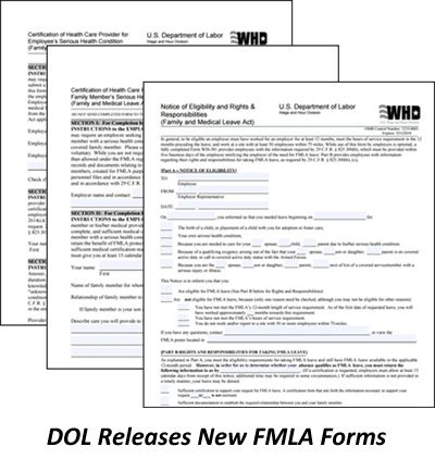 DOL Releases New FMLA Forms Summary via CBG Benefits Certified - Fmla Form