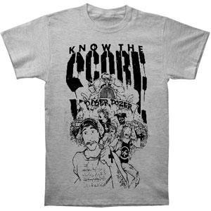 Punks Running From Guy Driving Poser Dozer & Logo On Grey T-Shirt