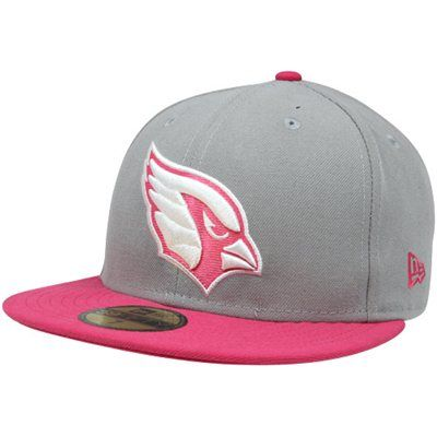 1bcc77e8d0cc New Era Arizona Cardinals Breast Cancer Awareness On-Field Player 59FIFTY Fitted  Hat - Gray Pink