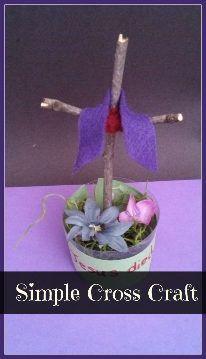 Simple Cross Craft Lent Pinterest Easter Crafts Cross Crafts