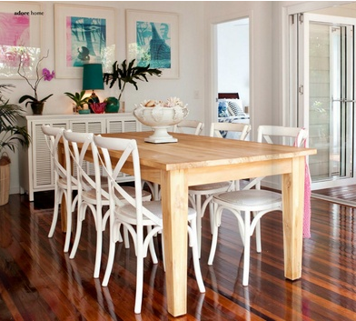 White X Back Chair Black Spindle Chairs Australia Farm Table And Via Adore Home Dining Rooms In