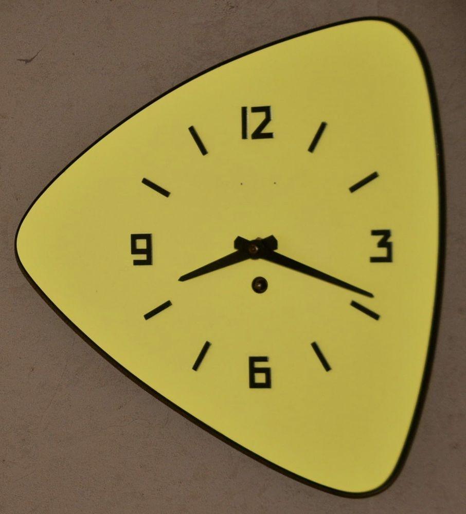 Beautiful pendule cuisine formica jaune vintage clef design with pendule de cuisine design for Pendule cuisine inox
