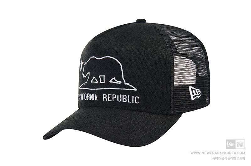 New Era 9Forty D Frame California Republic Black Baseball Mesh Cap Snapback   NewEra  BaseballMeshCap deba69df9b31