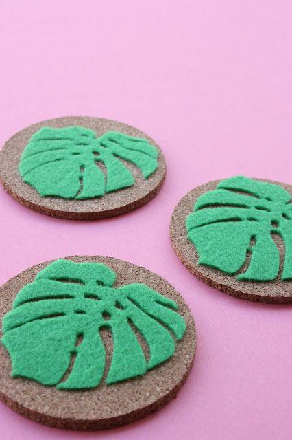 Monstera Leaf Coasters With Cricut Home Decor Pinterest