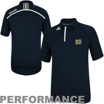 adidas Notre Dame Fighting Irish 2013 Coordinator Performance Polo - Navy Blue
