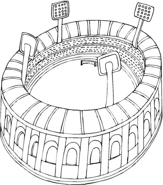 Football Stadium Coloring Page Football Coloring Pages Sports