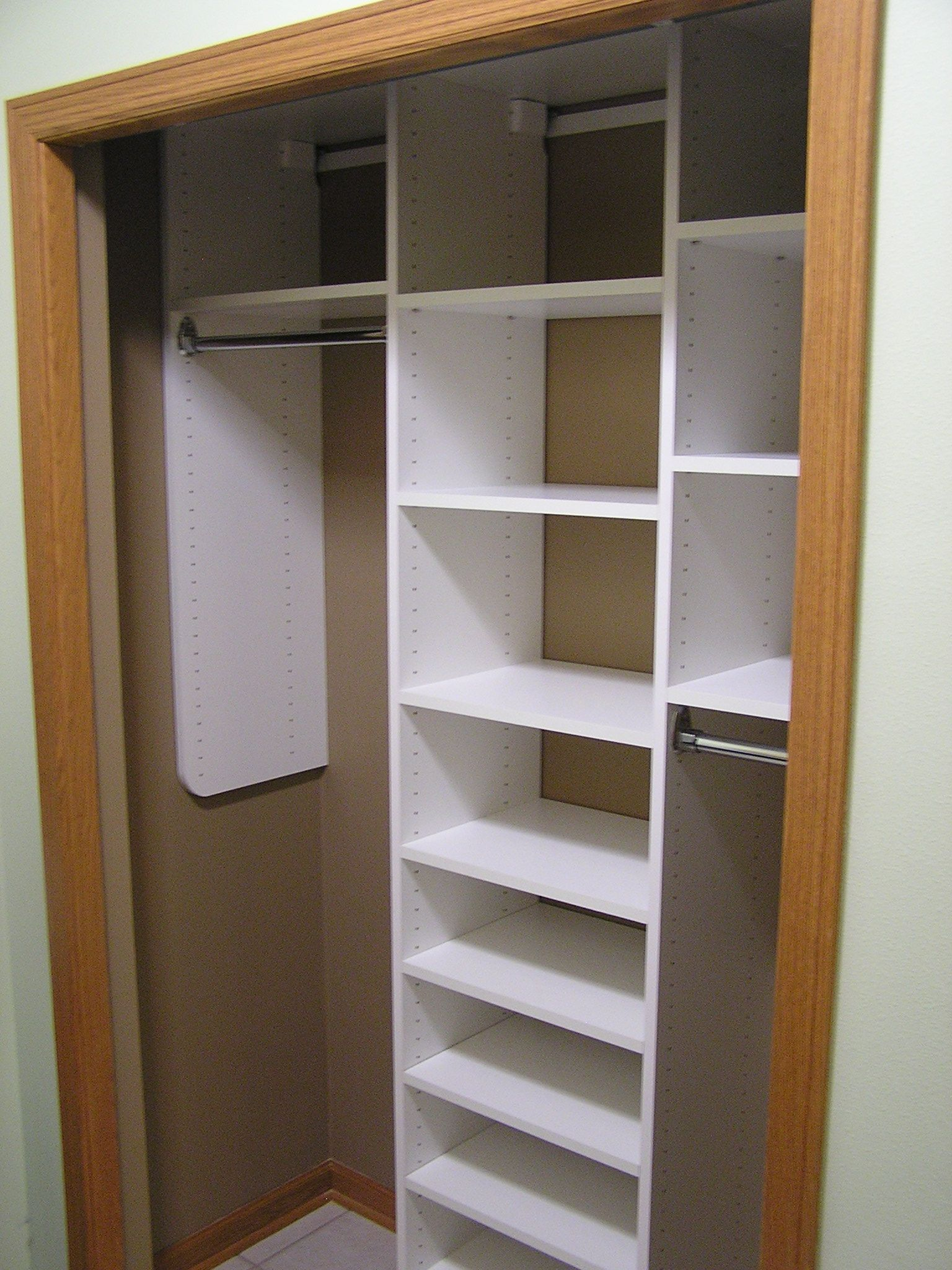 Wall Mounted Closet System. This Is Not That Elaborate, But It Adds More  Storage Space To Your Reach In Closet