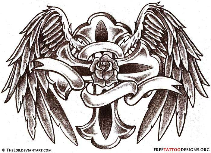 angel wings tattoo gallery 50 cross tattoos tattoo designs of rh pinterest ca celtic cross with angel wings tattoo cross with angel wings tattoo designs