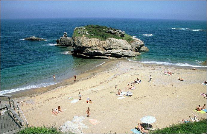 playa espana gijon mapa