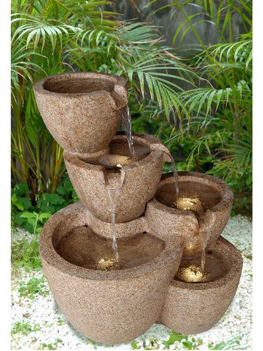 Lighted bowls tiered to completed the perfect water fountain lighted bowls tiered to completed the perfect water fountain workwithnaturefo