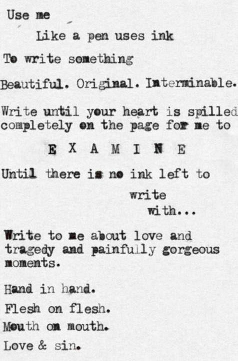 Write erotic poetry