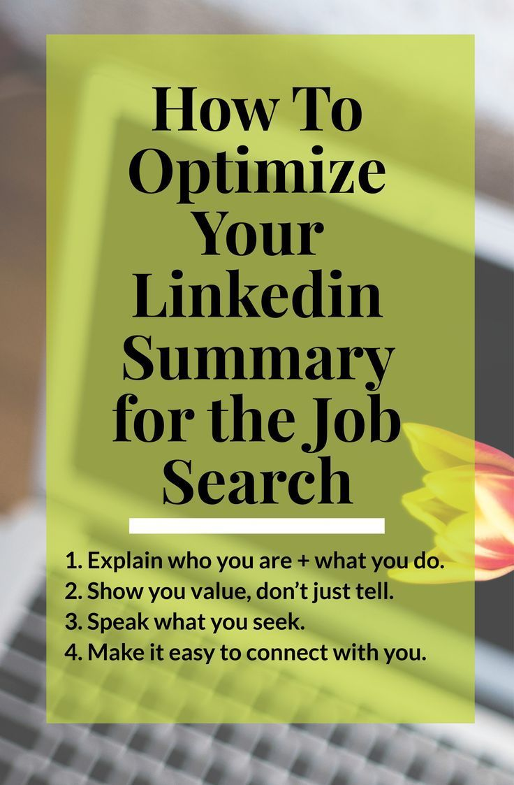 How to optimize your linkedin summary for the job search