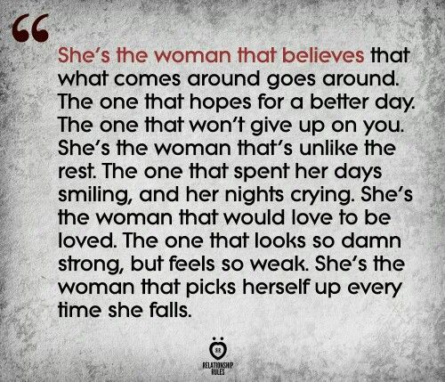 I am that woman.