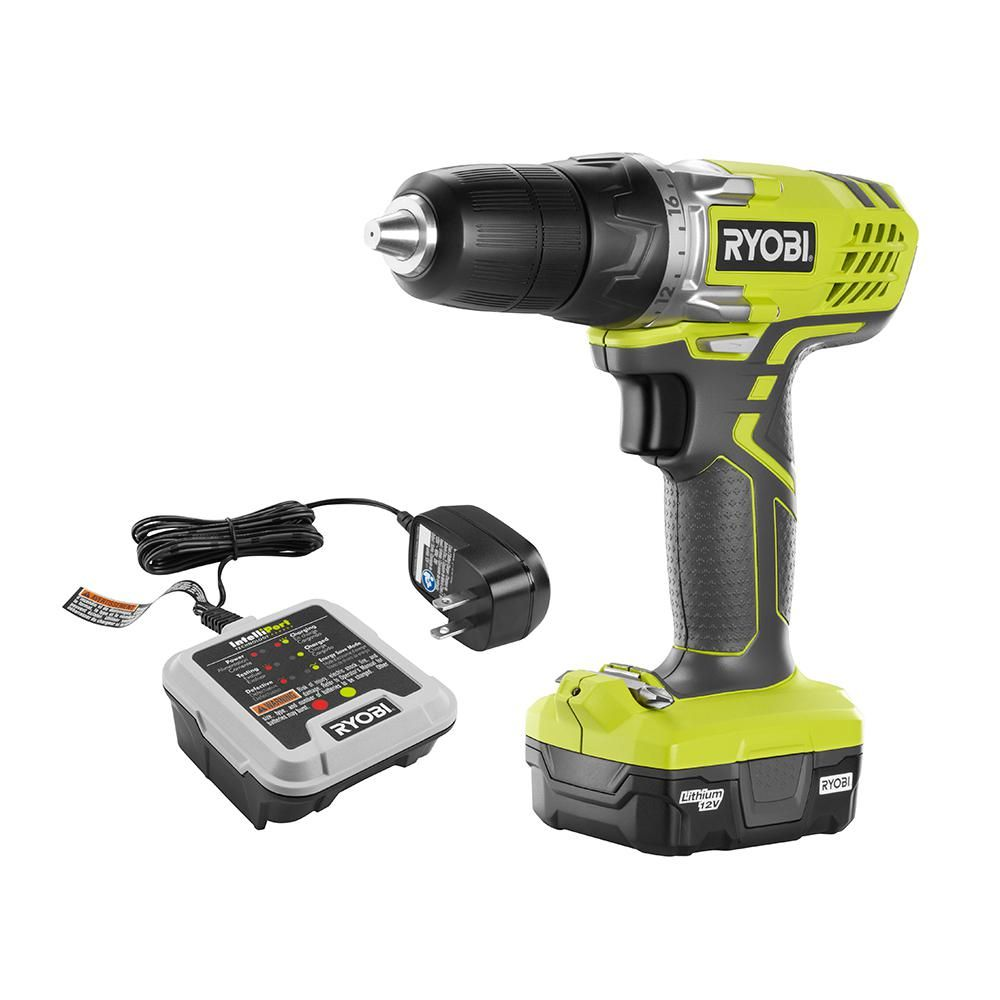 Ryobi 12 Volt Lithium Ion Cordless 3 8 In Drill Driver Kit With 12 Volt Battery And Charger Hjp004l Cordless Drill Reviews Drill Driver Cordless Drill