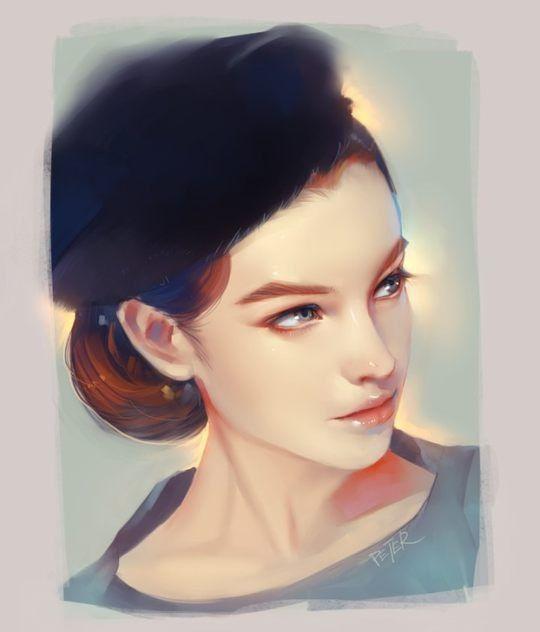 Ilustraciones digital fresco por Xiao Ji Mujeres Hermosas - förde küchen kiel