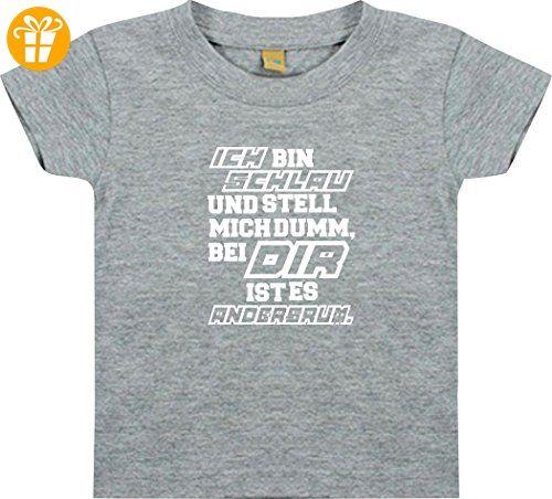 Shirtstown Kinder T Shirt Kultiger Spruch Ich Bin Schlau Und Stell
