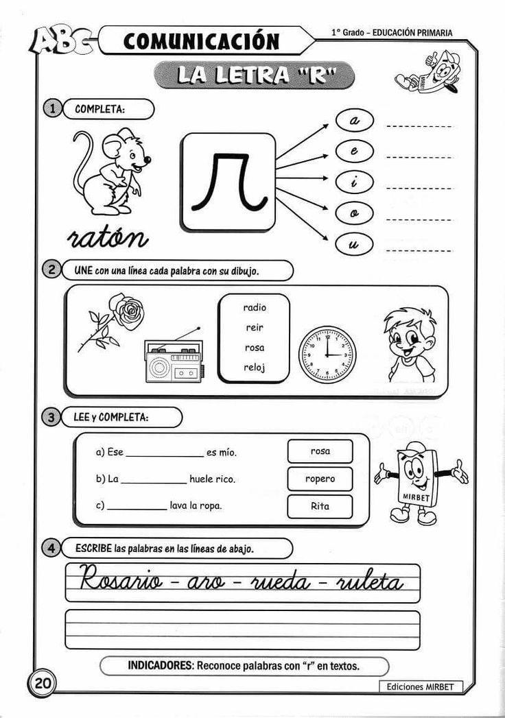Resultado De Imagen Para Dibujos Para Colorear Consonante R