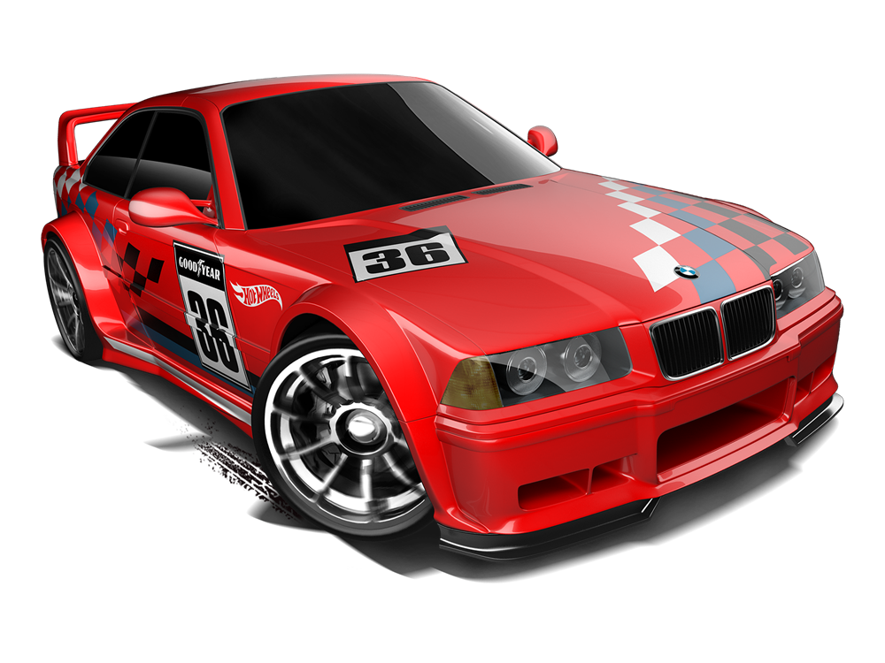 hot wheels bmw e36 m3 race 2014 red diecast toy cars. Black Bedroom Furniture Sets. Home Design Ideas