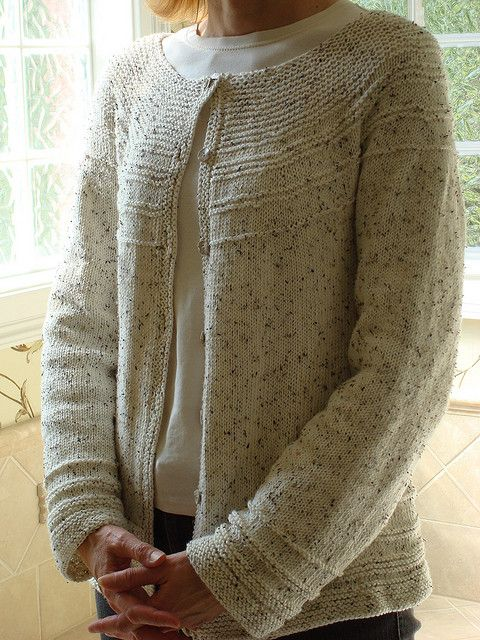 aee09d70e Transitions Yoke Cardigan pattern by Becky Harbour