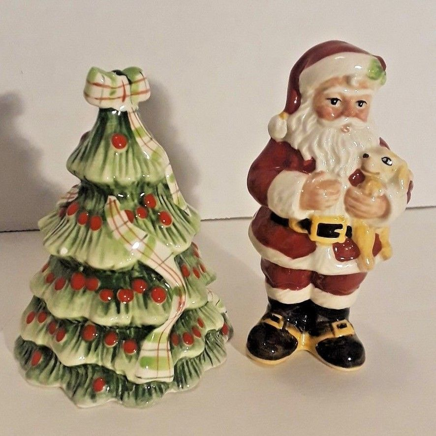 Details about FITZ  FLOYD CHRISTMAS HOLIDAY SANTA CANDLE HOLDER