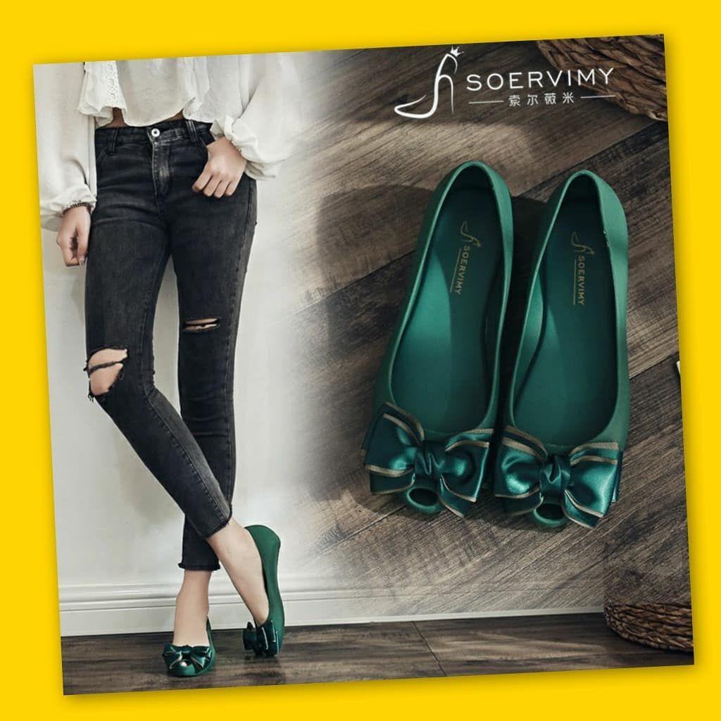 Sepatu Flat Musim Panas Wanita Gaya Korea Koleksi Abby Glia