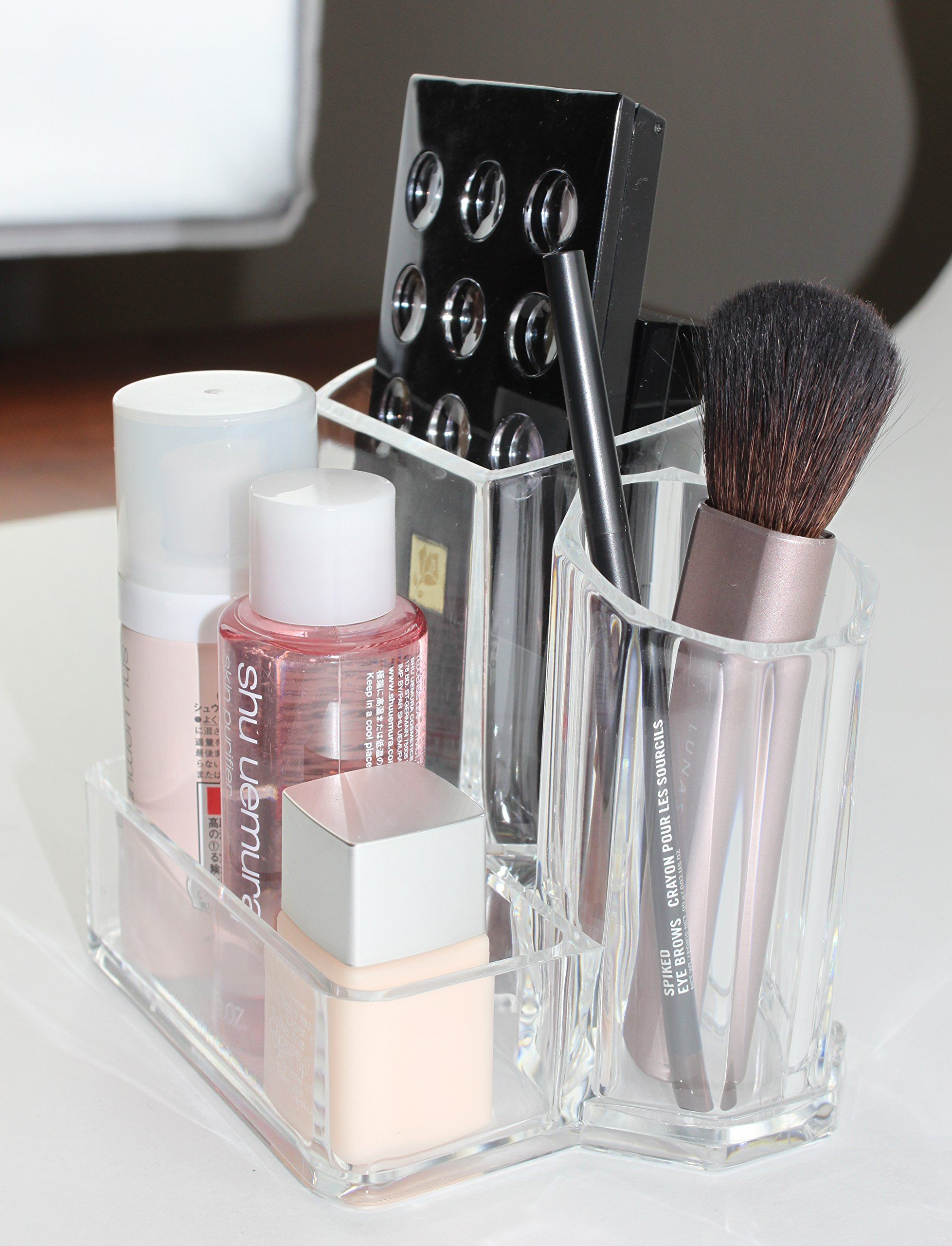 Premium Quality Clear Acrylic Makeup Brush And Accessory Holder With