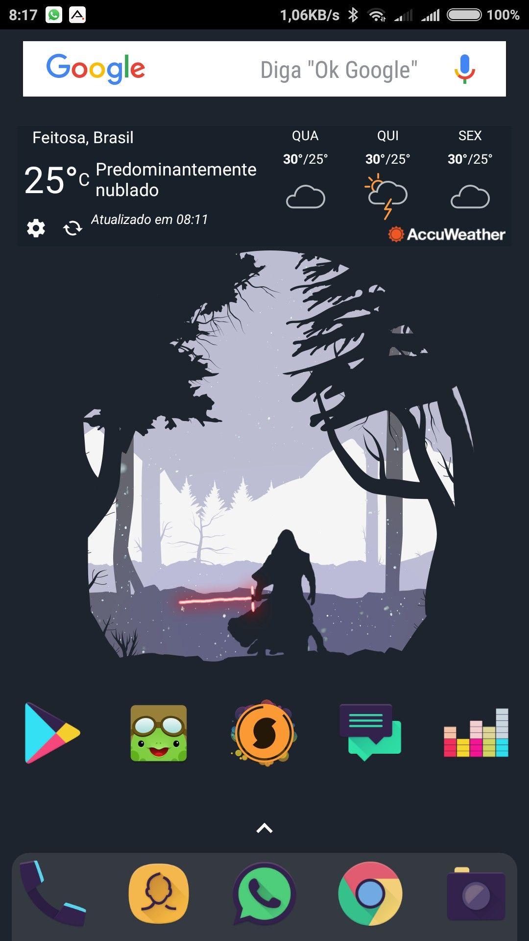 Nova Launcher + Viral icon pack + Kylo Ren Wallpaper