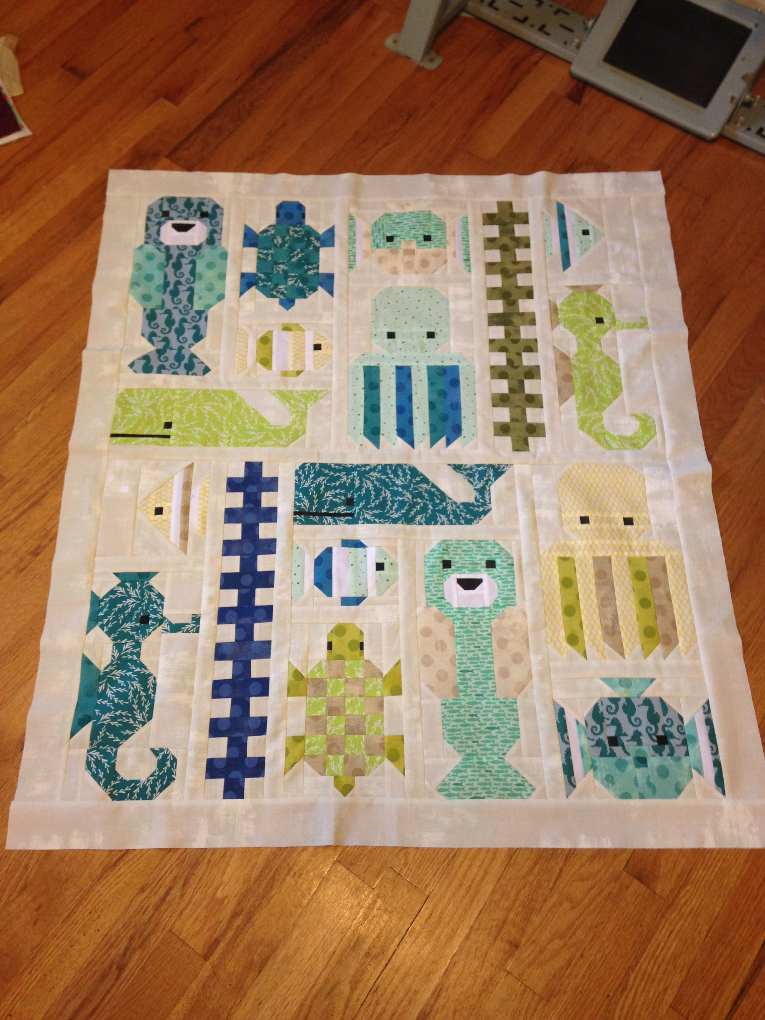 Awesome Ocean Quilt Top Pattern By Elizabeth Hartman