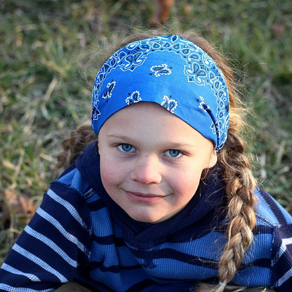 BLUE YELLOW GREEN WHITE STRIPED HAIR STRETCHY ELASTIC HEADBAND HEAD BAND BANDANA