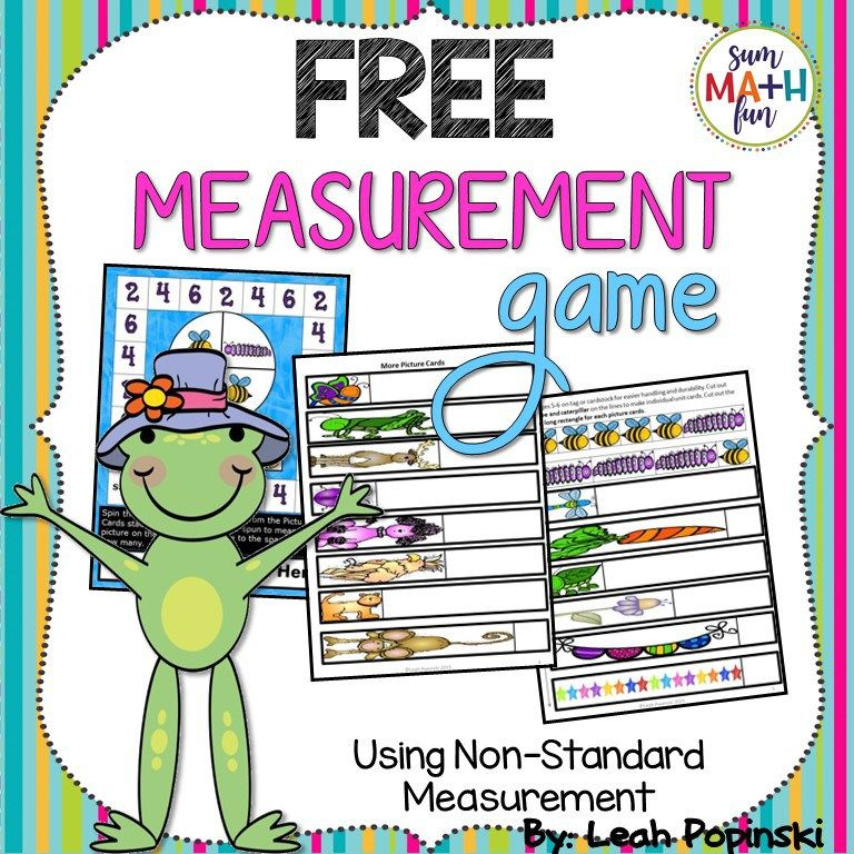 fun non standard measurement free measurement game included 1st math measurement activities. Black Bedroom Furniture Sets. Home Design Ideas