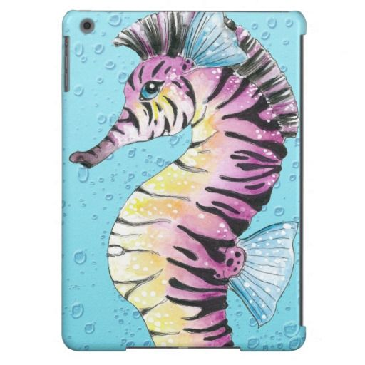 Blue Seahorse Zebra Case for iPhone 6, iPad Air and more brands.  Click on the artist's link.