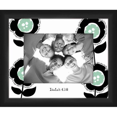 Happy Daisies III Decorative 5 inch x 7 Photo Frame, 11.25 inch x 9.25 inch Wall Art, Black