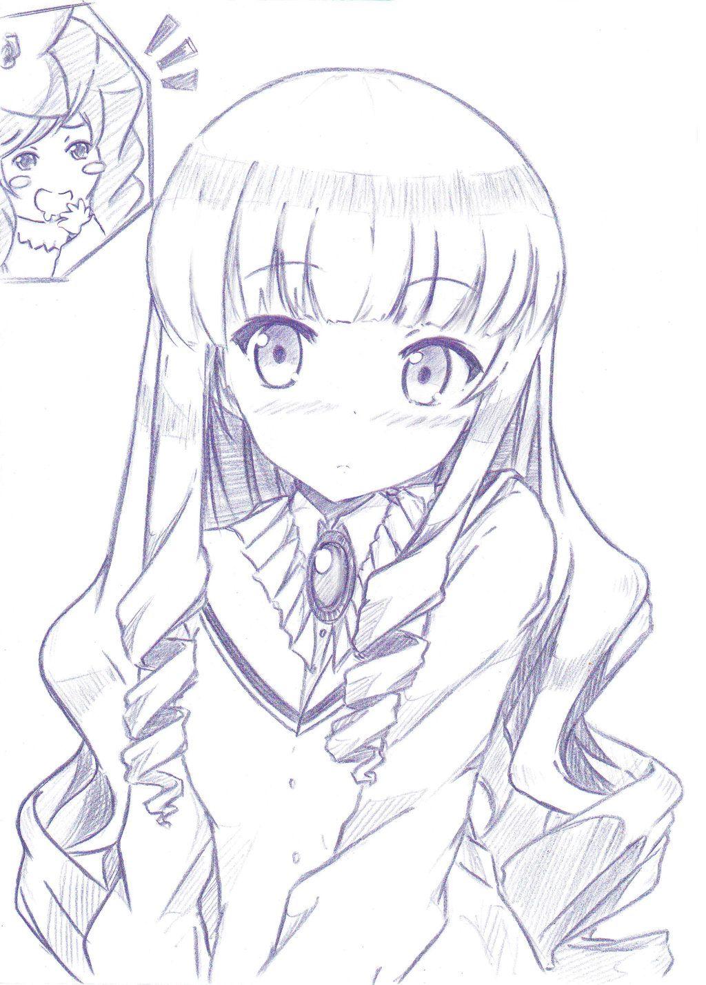 Happy Birthday Tsukiyo Anime Sketch Drawing