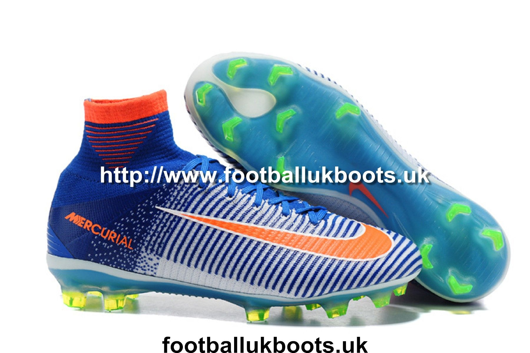 size 40 0b253 88b73 Nice Football Boots Nike Mercurial Superfly V FG - Blue White Orange Green