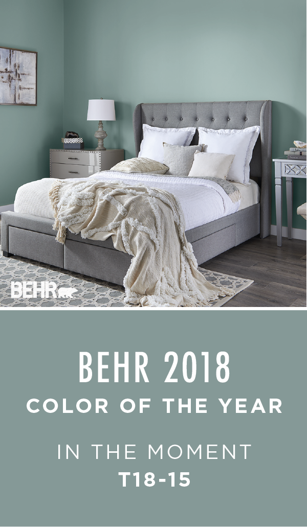 Neutral Paint Colors For Living Room 2018 Wall Clocks Give Your Home A Fresh And Modern Look With Little Help From The Behr Color Of Year In Moment This Soothing Blue Green Shade Helps To