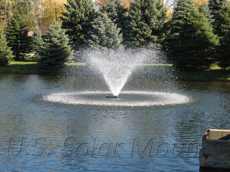 Da 20 Display Aerator 1 5 Hp Pond Aerator Outdoor Water Features Pond Fountains