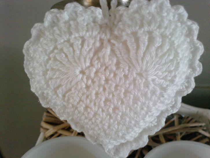Hele Mooie Brocante Gehaakte Hartjes 9 Cm Haken Brocante Crochet