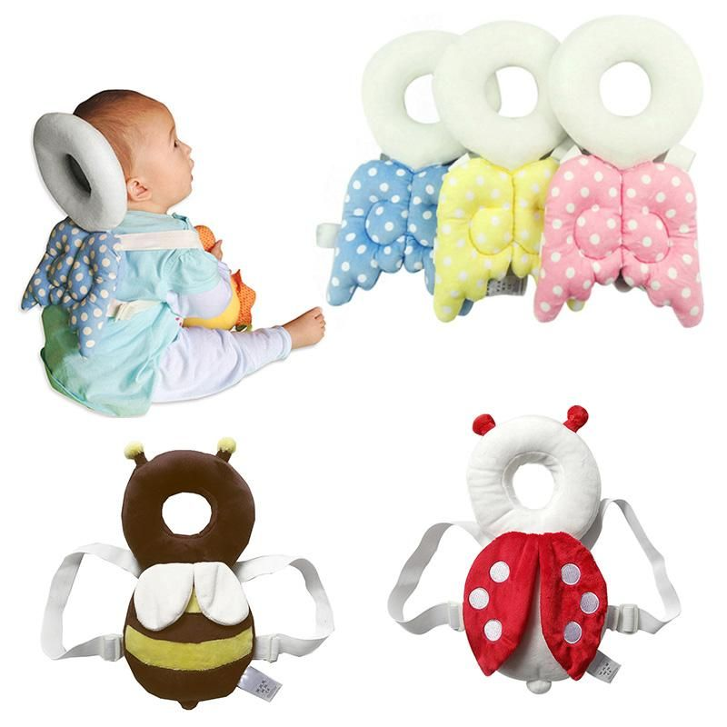 Baby Kids Head Protection Pillow Pad Toddler Head Back Care Cute Resistance  F