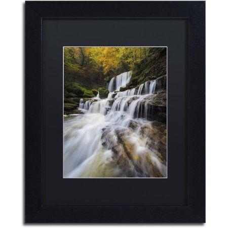 Trademark Fine Art Symphony of Autumn Canvas Art by Mathieu Rivrin, Black Matte, Black Frame, Size: 11 x 14, White