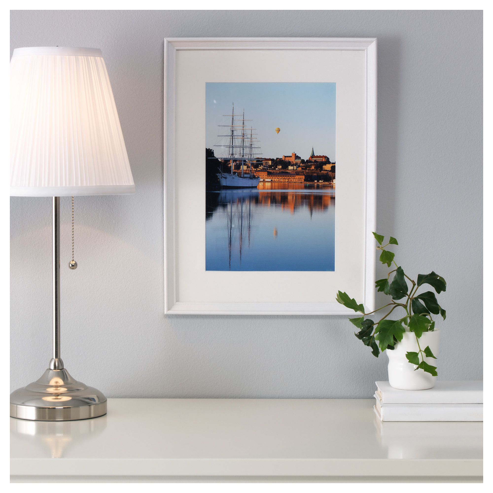 KNOPPÄNG Frame White stained 30x40 cm | White stain and Products