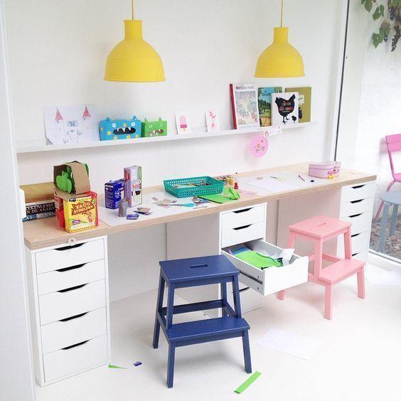 bureau idee d co enfants pinterest bureau chambres et chambre enfant. Black Bedroom Furniture Sets. Home Design Ideas
