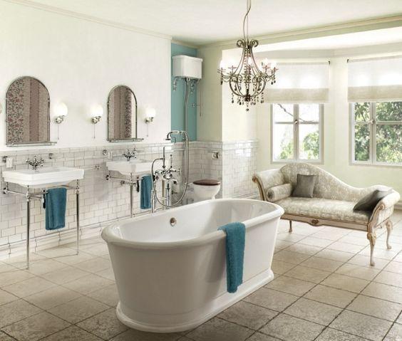 salle de bain r tro avec baignoire lot m ridienne et. Black Bedroom Furniture Sets. Home Design Ideas
