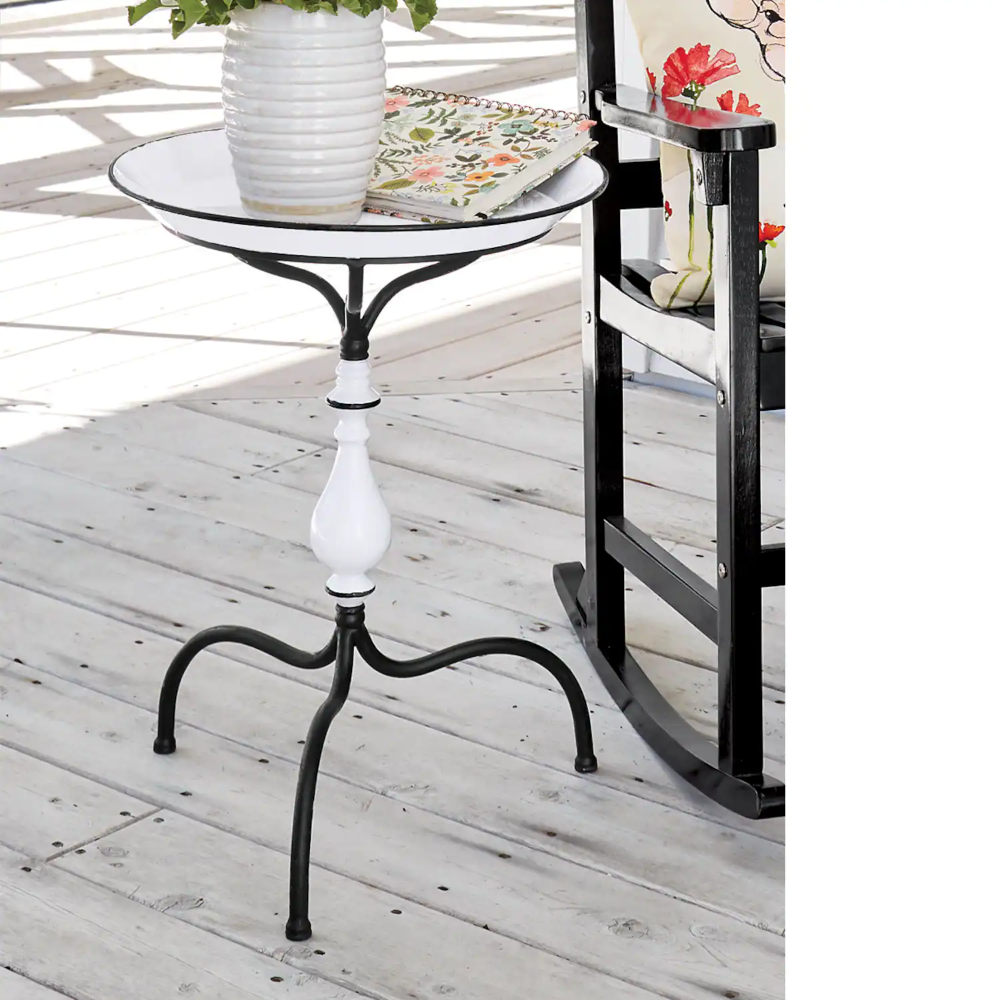 Enamel Spindle Table In 2021 Outdoor Decor Table Farmhouse Style Bedding [ 1000 x 1000 Pixel ]