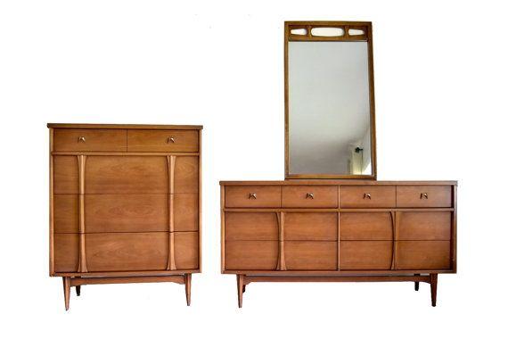 Best Mid Century Modern Bassett Dresser Set By 400 x 300